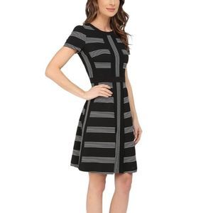 Maggy London Short Sleeve Fit and Flare Dress